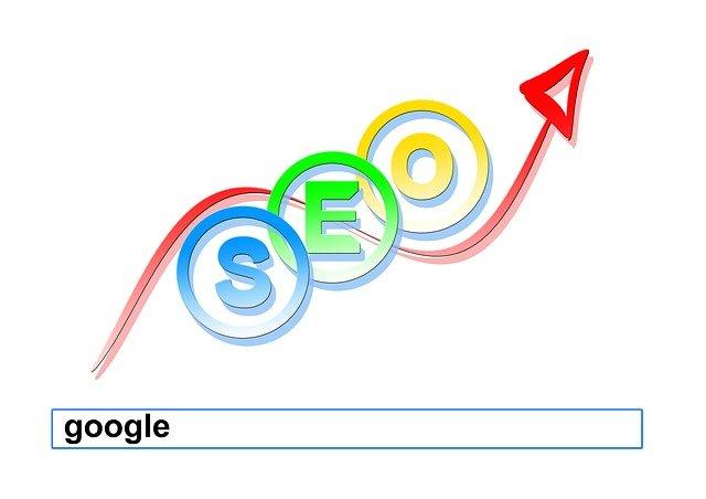 google, šipka, barvy