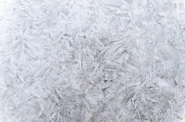 led, sněhové vločky